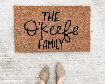 "The ""Name"" Family doormat 