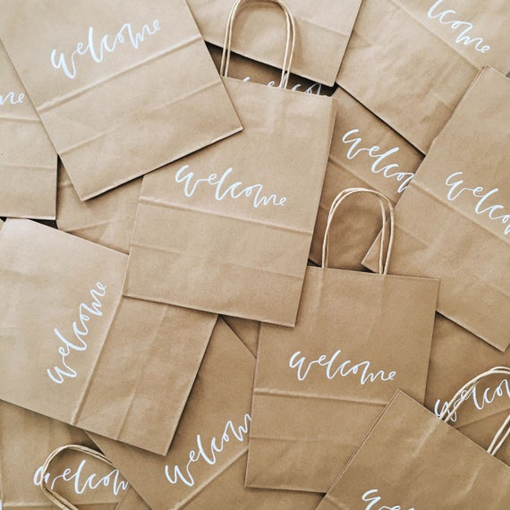 Custom Gift Bags Wedding Welcome Bags Wedding Favors Etsy