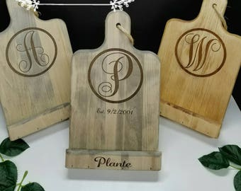 Recipe holder - Custom Tablet stand  - Custom Recipe Stand - Personalized Cookbook Stand - iPad Stand - ENGRAVED Tablet holder Wedding Gift