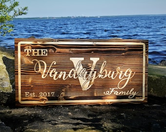 Custom Wood Sign / Personalized Name Sign / Last Name Sign / Rustic Wood  Sign /