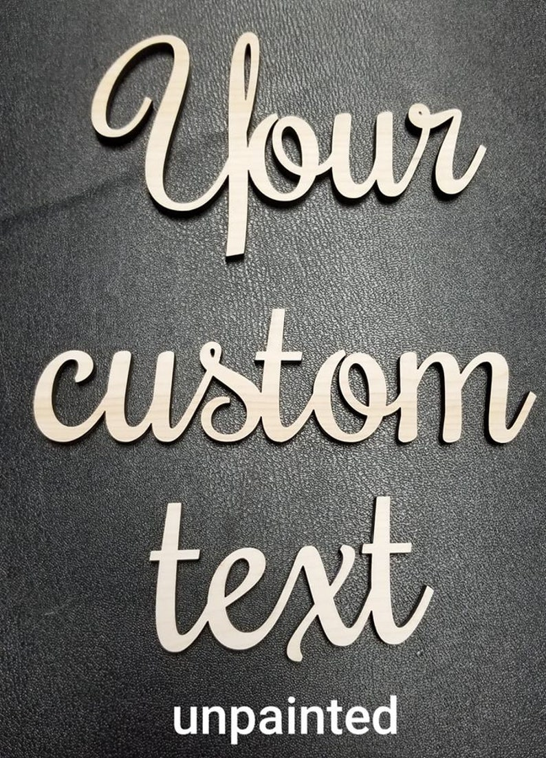 Custom wood words Custom word signs Personalized Wood Word Wooden Names DIY project Small Wood Name Sign Small words or Names For Crafts