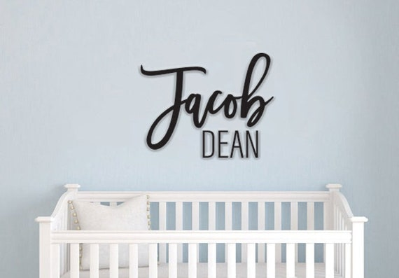 Custom Name Sign First & Middle Name. Personalized Name Sign
