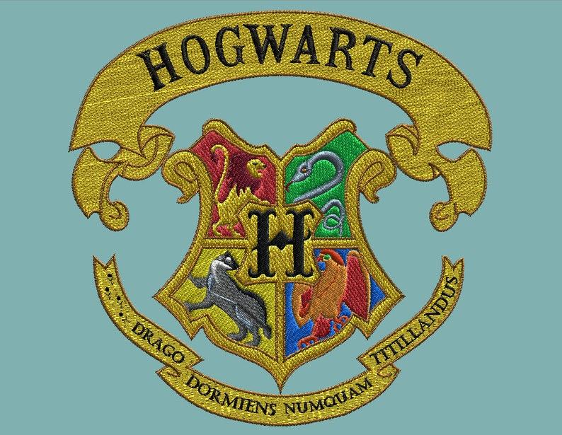Hogwarts Crest Stemma Hogwarts Etsy