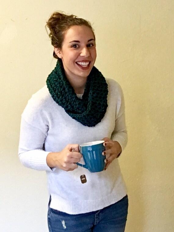 Handmade Teal Crochet Women s Bulky Winter V-Stitch  f427daea1