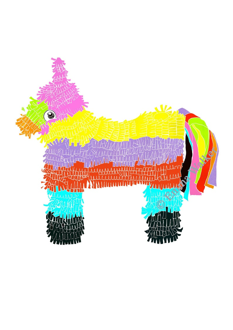 Piñata A4 Giclée Print image 0