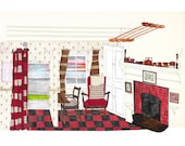 The Red Cottage Giclée Print A4 and A3