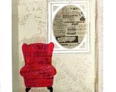 Red Chair A4 Giclée Print