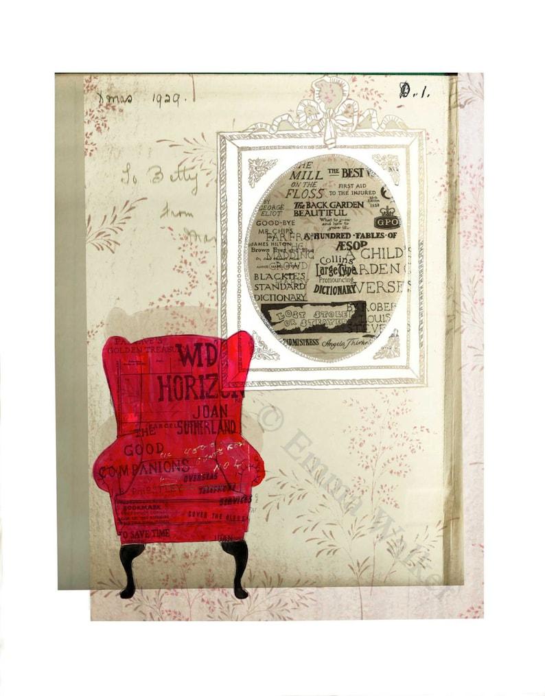 Red Chair A4 Giclée Print image 0