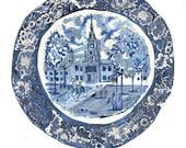 Blue Clocktower A4 Giclée Print