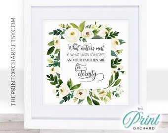 Family Quote LDS Christian Home Families are for Eternity   Etsy