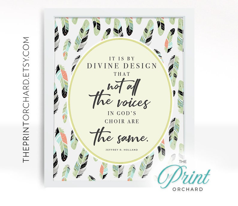 Lds Quotes By Divine Design Not All Of The Voices In Gods Etsy