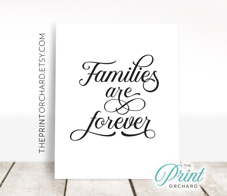 Families Are Forever Print Eternal Families Sign LDS Home Decor Christian  Home Families are for Eternity Printable Christian Family Quote