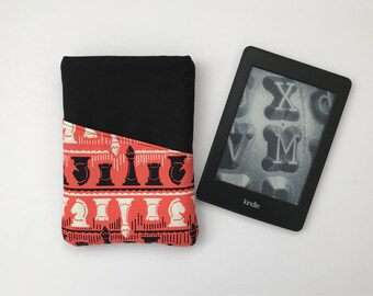 Kindle Paperwhite Case // Chess // Father's Day // Fabric Kindle Case // Chess Gift