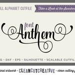 Full Alphabet SVG Fonts Cutfile - Fancy Script cricut font  DXF EPS - Silhouette Cameo & Cricut - commercial use clean cutting digital files