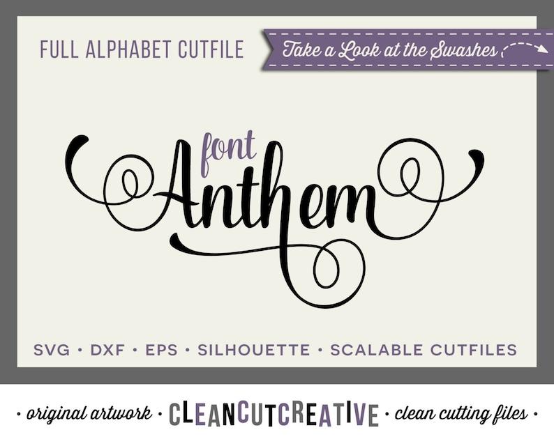 Full Alphabet SVG Fonts Cutfile  Fancy Script cricut font image 0