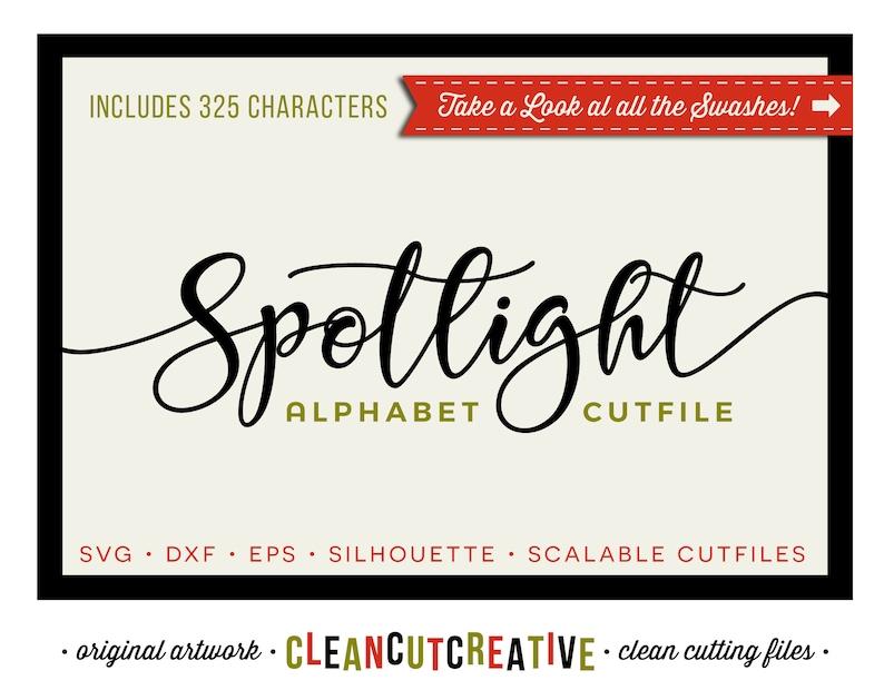 Download Spotlight SVG Font for Cricut font svg Script Alphabet svg ...