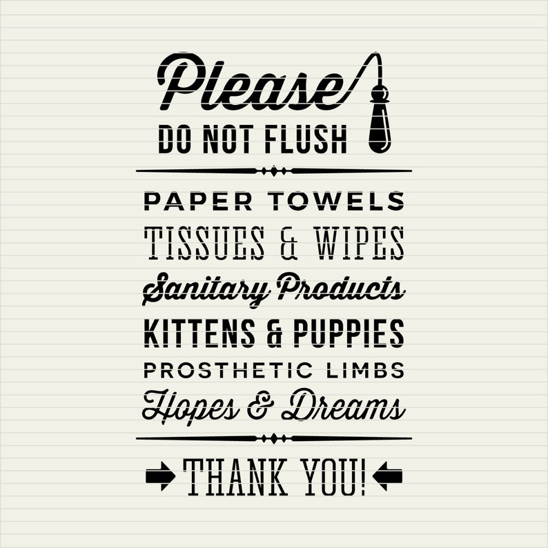Svg Do Not Flush Hopes Dreams Svg Funny Toilet Quote Svg Etsy