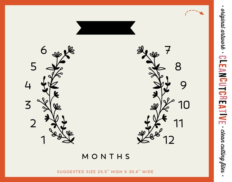 SVG Baby Monthly Milestone Blanket svg personalized blanket cutfile design for Cricut Silhouette Scan n Cut Sublimation png commercial use