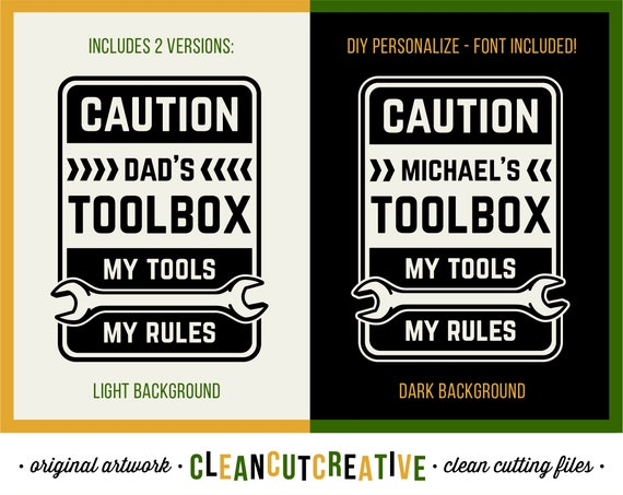 Svg Dad Tools Rules Svg Men Gift Svg Grandpa Toolbox Decal Etsy