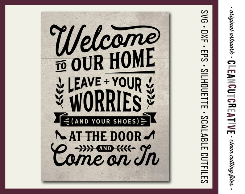 9a7f99f36cff0 SVG Leave Worries and Shoes no shoes take off remove your shoes off hallway  mudroom wood sign svg file design Cricut Silhouette cutting file