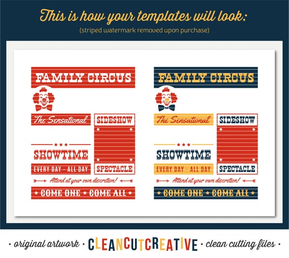 Funny Family Circus Svg Cut File For Crafters Svg Personalized Etsy