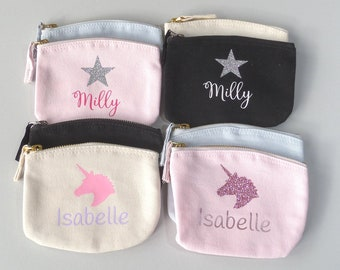PERSONALISED GIRLS/' S-Z FAUX LEATHER PINK PURSES CHRISTMAS GIFT STOCKING FILLER!