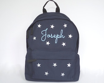 17/'/' Boys Girls School Bags Personalized Travel Backpack Fashion Blue Cowboy Cat
