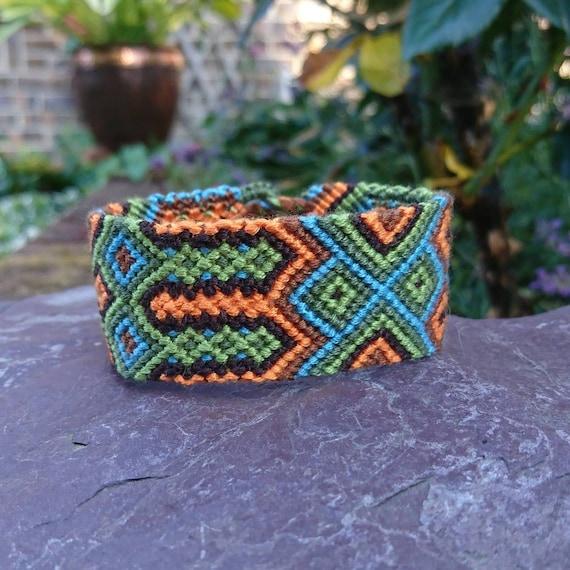 Cotton Beach Bracelet Festival Bracelet Tribal Cuff Friendship Bracelet Woven Multicolour Bracelet Multicolour Macrame Cuff Mens Cuff
