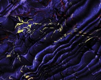 "Ultraviolet ~Marbled Scarf, 72"" Long~"