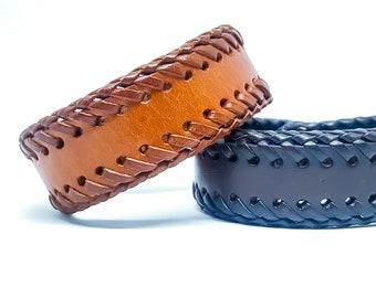 Mens leather bracelet.