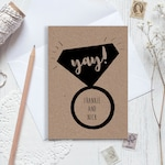 Personalised engagement card, rustic engagement card, congratulations card