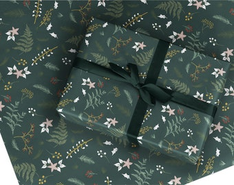 Christmas Wrapping Paper / Gift Wrap - Berry and Bright - Pine