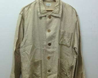 15% Off with Coupon Codes!!! Designer Paul Smith Triple Pockets M size Button Down Long Jacket