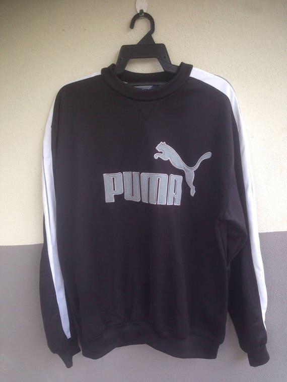 30 % années SEPT vente 35 pourcent des années % 90 Puma Big Logo Spellout brodé Poly coton pull bfe5b8