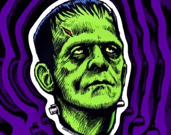 Frankenstein Sticker- Boris Karloff as the Monster!!