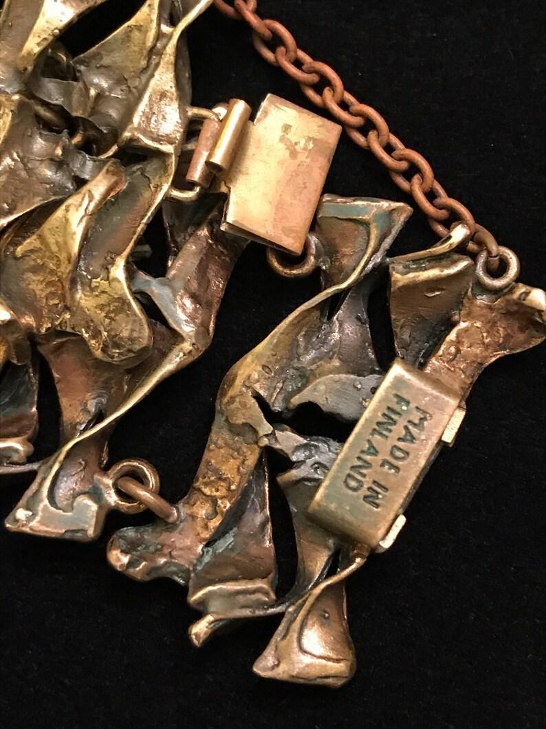 Hannu Ikonen-Fractured Ice-Finland Brutalist Bronze Bracelet 1960/'s
