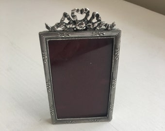 Signed Elias pewter picture frame