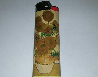 Custom Van Gogh Sunflowers Lighter