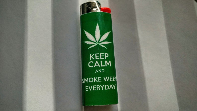 Keep Calm and Smoke Weed Everyday   Custom Lighter  image 0