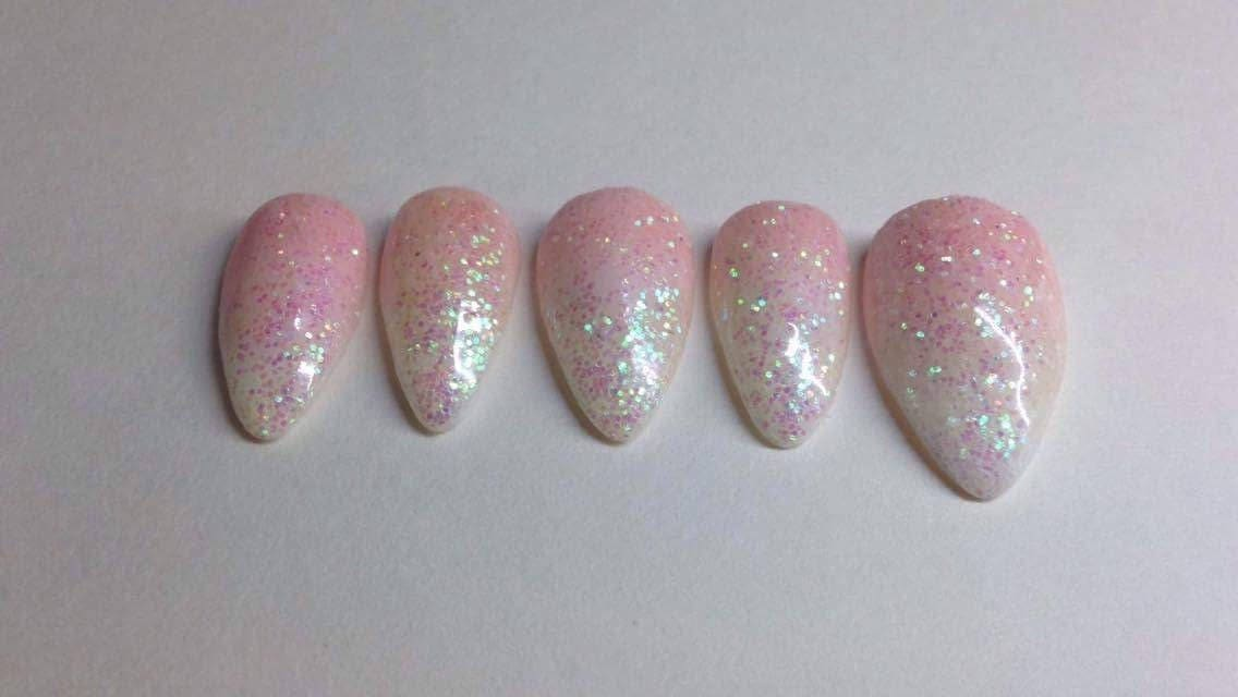 Ombré Glitter nails | French Fade | Baby Boomer | Custom made press ...