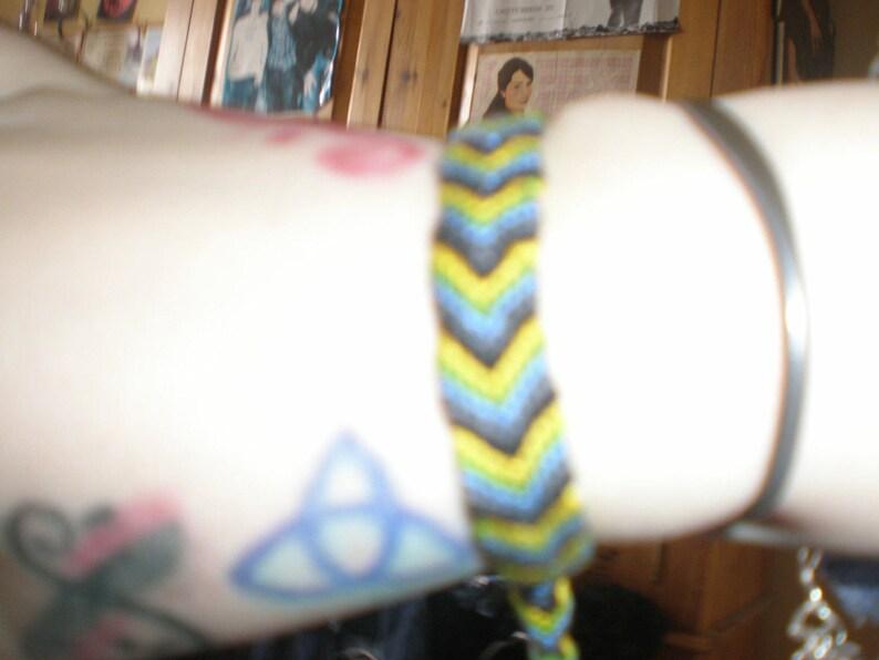 grey and black bracelet blue,green yellow