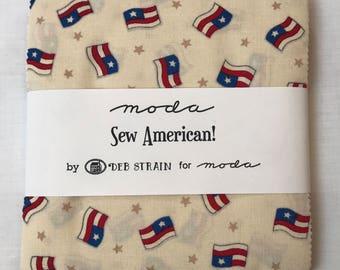 Moda Sew American! Charm Pack by Deb Strain