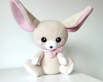 Cute Fennec Fox, Fennec Fox Plushie, Stuffed Fox, Stuffed Toy, Pink Fox, Cute Gift