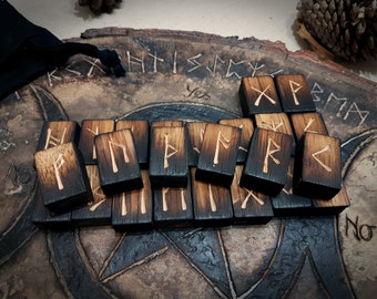 Birch Wood Elder Futhark Rune Set | Runes | Asatru | Viking | Wooden Rune Set | Birch | HandMade | Divination | Norse