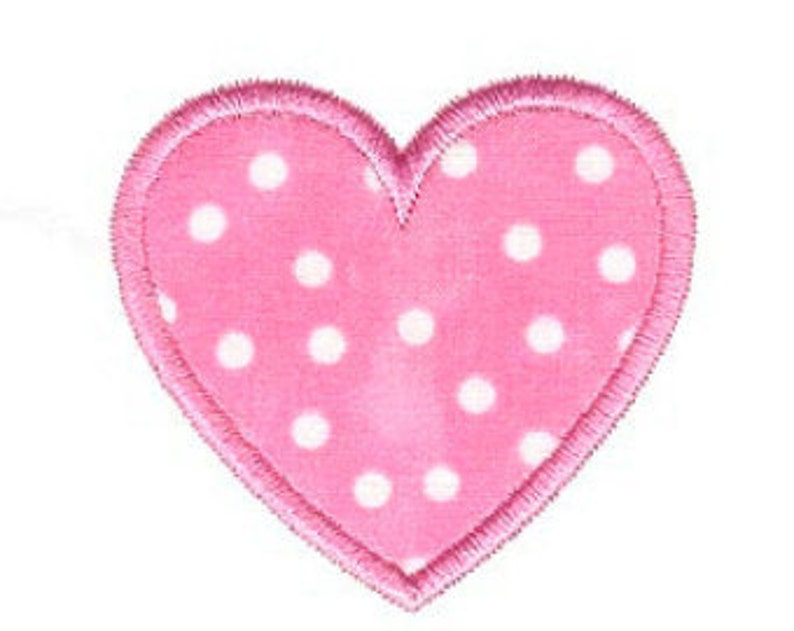 Heart applique design heart machine embroidery applique etsy