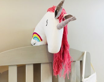 Nursery decor   faux taxidermy unicorn head ready to ship
