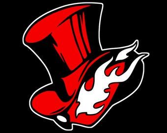Persona 5 Arsene Phantom Thieves Logo Vinyl Decal for Car Laptop READ  DESCRIPTION 26923f068da