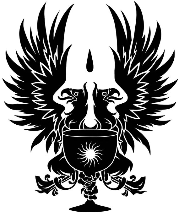 Dragon Age Grey Warden Heraldry Griffon Vinyl Decal Etsy