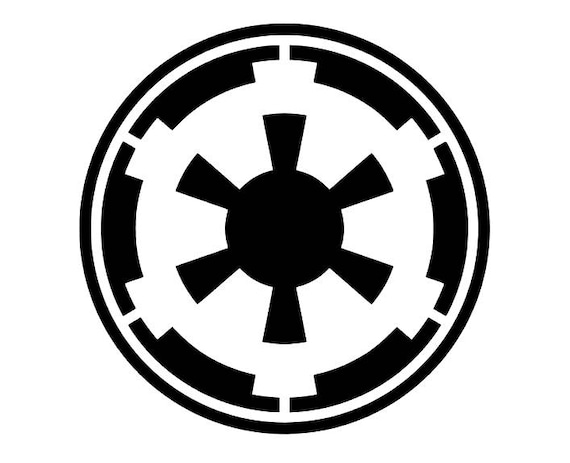 Star Wars Galactic Empire Symbol Decal For Carlaptop Etsy
