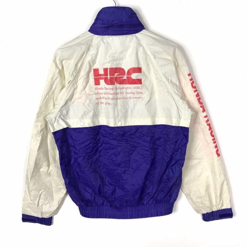 Vintage 80s Honda Racing Hrc Windbreaker Jacket Large Size Etsy